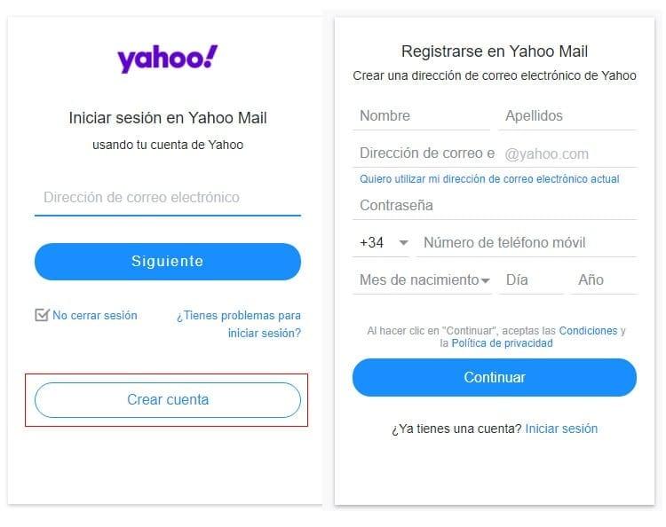 Como crear una cuenta de YMail