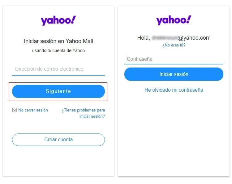 Como iniciar sesión en YMail