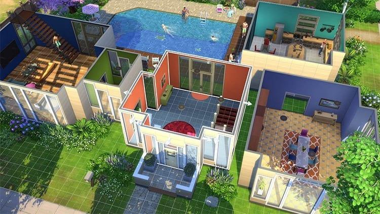 Modo construcción Los Sims