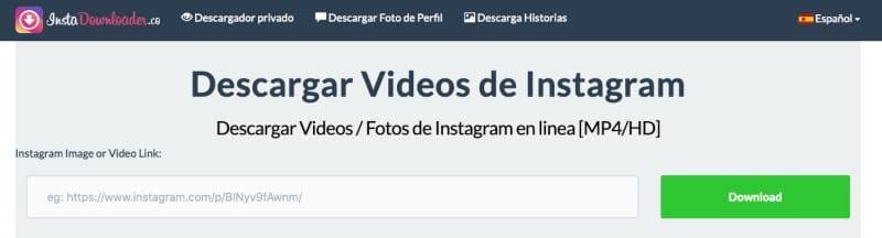 InstaDownloader descargar vídeos de Instagram