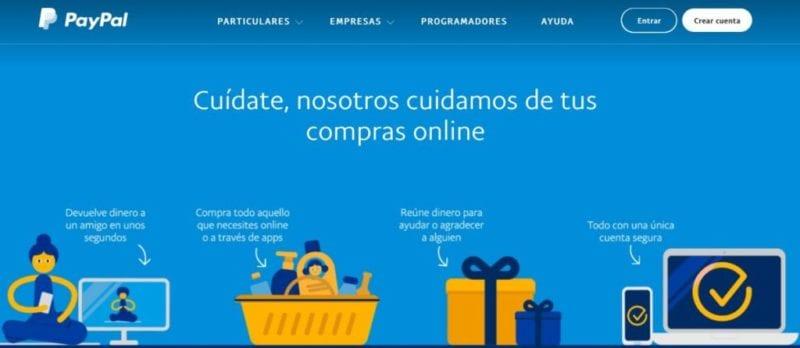 Crear una cuenta en Paypal
